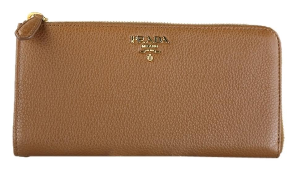 25e466fdc6ed49 Prada * Prada Vitello Grain Tan Leather Wallet - 1M1183 Image 0 ...