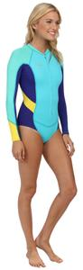 O'Neill O'Neill Superlite Hi-Cut Long Sleeve Spring Women's Swimwear Light Aqua/Cobalt/Yellow size 12