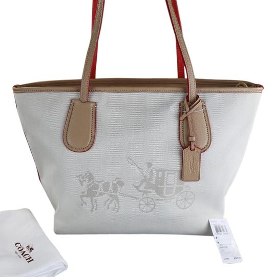 Preload https://img-static.tradesy.com/item/8348608/coach-taxi-horse-and-carriage-beige-canvas-tote-0-2-540-540.jpg