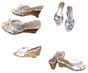 Coach White & Silver Wedges
