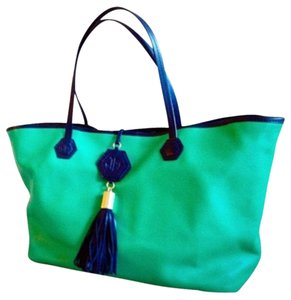 Jonathan Adler Tote in NWOT Duchess Blue/Green