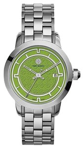 Tory Burch Tory Burch TRB1007 Women's Olive Green Dial Stainless Steel Silver-Tone Swiss Bracelet Watch NEW! $495