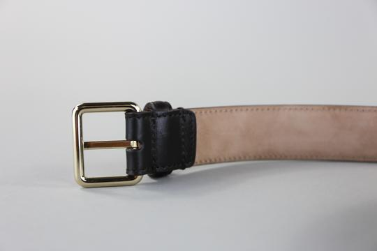 Gucci * Gucci Brown Leather Belt w/ Square Buckle