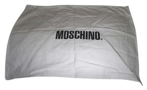 Moschino New Moschino Sleeper/ Dust Bag Protective Cover White with Black Logo Bag 20x15 !!!