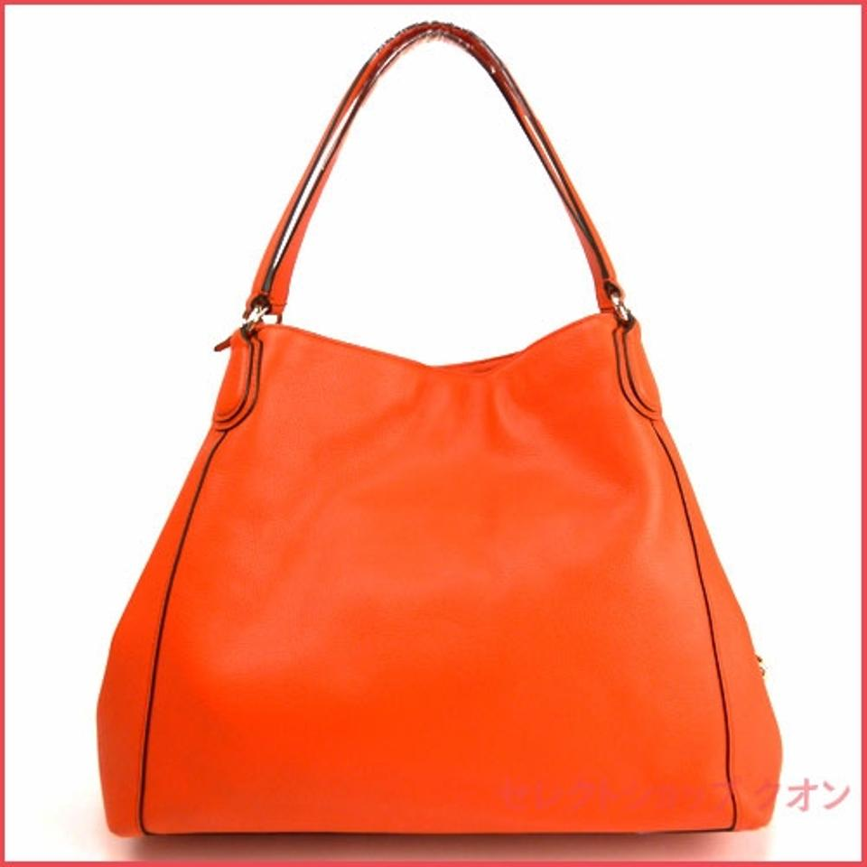 Coach Edie Refined Pebble 33547 Light Gold Coral Leather Shoulder Bag -  Tradesy 5996c7fa4b23b