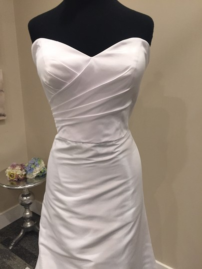 Essense of Australia White Luxe Taffeta/Lace D1454 Wedding Dress Size 10 (M)