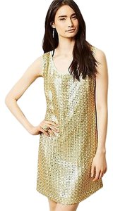 Anthropologie short dress Golden Panes Shift By Tabitha on Tradesy