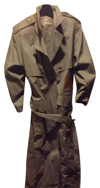 Item - Light Olive Green With Leather Trim. Coat Size 12 (L)