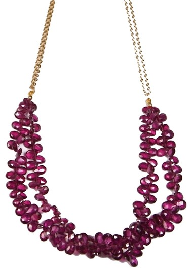 Other Rhodolite Garnet briolette necklace