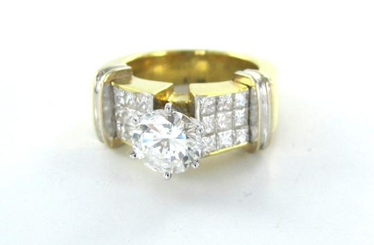Other WEDDING RING BAND DIAMOND 18KT SOLID KARAT YELLOW GOLD PRINCESS CUT SIZE 6 JEWEL
