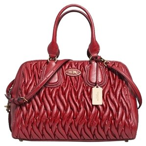 Coach 33533 Satchel in Garnet