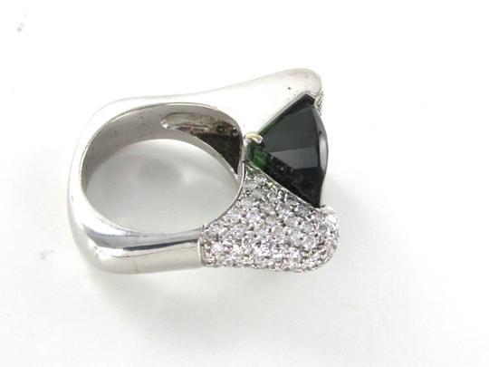 Other TOURMALINE 129 DIAMOND 2.5 CARAT 14KT WHITE GOLD RING COCKTAIL