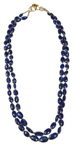 Kyanite 2 strand Necklace - 18kt YG Sapphire clasp
