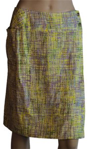 Chanel Cotton Tweed Skirt badge / purple / green
