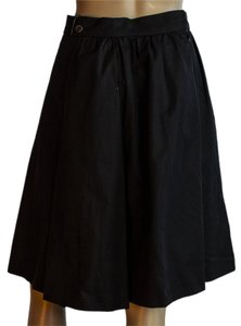 Chanel 100% Cotton Skirt black