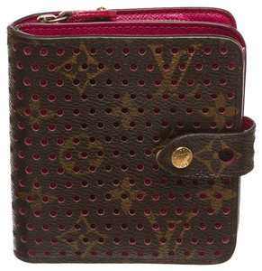 Louis Vuitton Louis Vuitton Brown Monogram Perforated Compact Zippy Wallet