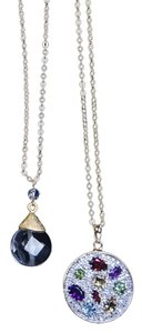 Other Multi Gem 18k Yg Over Sterling Pendant With Chain