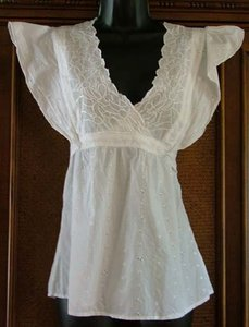 Egyptian Cotton Festival Top White