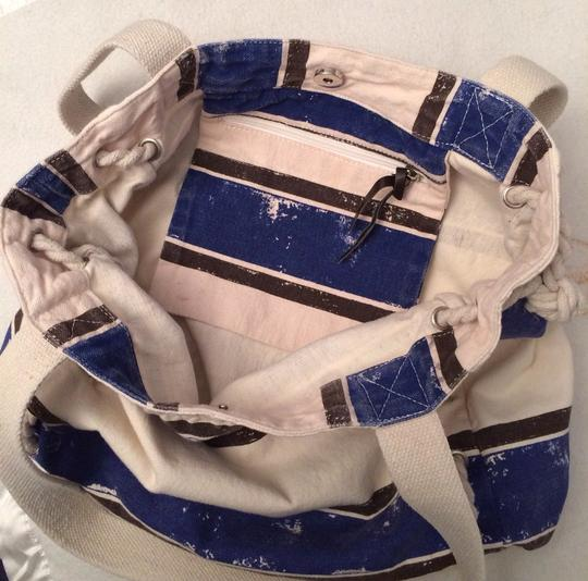 Other Tote in Wash Out Blue and White