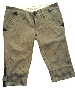 Z-Brand Wool Leather Shorts Gray
