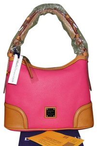 Dooney & Bourke Pink Pebble Leather Lined Anniversary Edition Hobo Bag