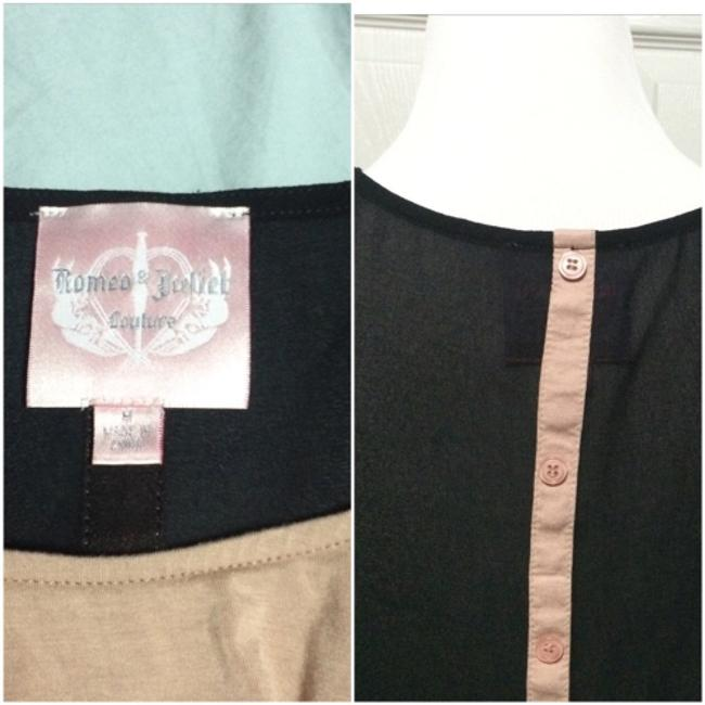 Romeo & Juliet Couture Top Black & pink