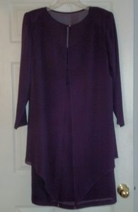 Ann Hobbs For Cattiva Purple Coat Dress Dress