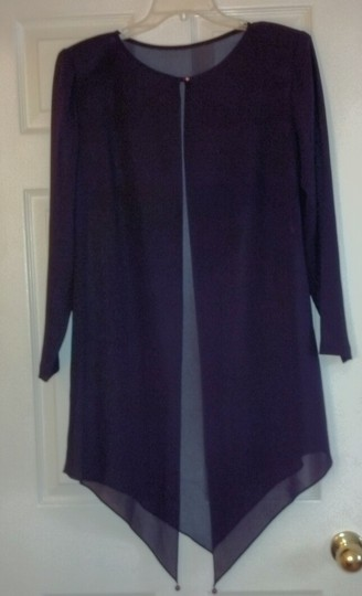 Ann Hobbs for Cattiva Purple Polyester Traditional Bridesmaid/Mob Dress Size 10 (M)