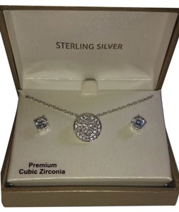 Target NIB, never worn cubic zirconia necklace and earring set