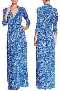 Blue Maxi Dress by Diane von Furstenberg Wrap