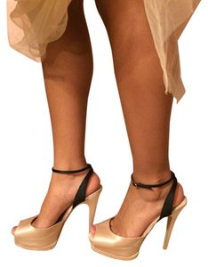 Steve Madden Satin Prom Wedding Platform Stiletto Cream Sandals