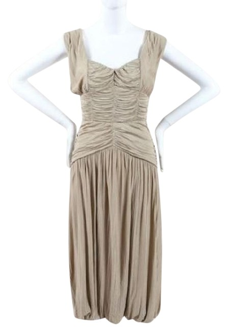 Preload https://img-static.tradesy.com/item/8358127/burberry-wheat-new-tags-prorsum-pleated-ruched-grecian-mid-length-cocktail-dress-size-8-m-0-5-650-650.jpg