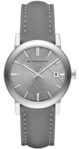 Burberry NWT BURBERRY Light Grey Dial Grey Leather Ladies Watch BU9036