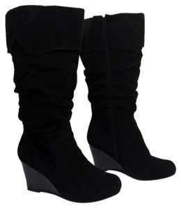 Avenue Boot Leather Faux Leather Black Boots