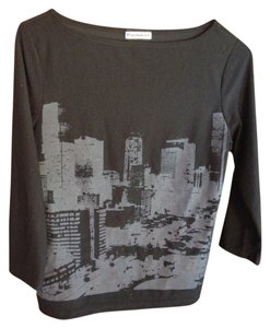 Evolution Boatneck Urban Screenprint City T Shirt black