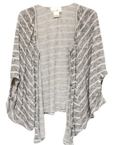 Liberty Love Spring Cute Sweet Asian Kstyle Soft Sweater Jacket Pullover Cape Dolman 3/4 Striped Cardigan