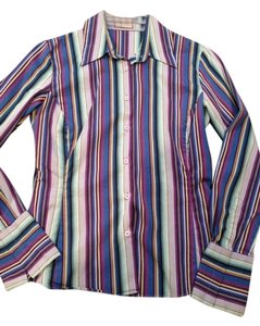 Thomas Pink Button Down Shirt Multi Stripe