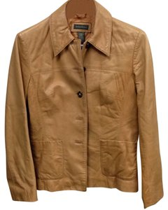 Banana Republic Light Tan Leather Jacket