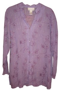 Susan Graver 100% Cotton Embroidery Tunic
