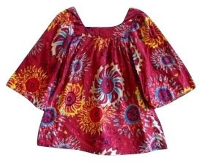 Antik Batik Top Red and floral print