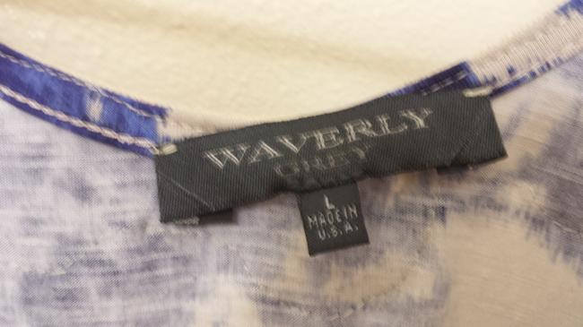 Waverly Grey Sleeveless Top Blue and grey
