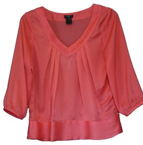 Ann Taylor Satin Top Pink
