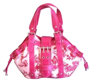 Rina Rich Satchel in Pink & White