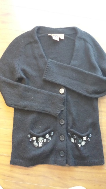 Tory Burch Embellished Cardigan Black Jacket