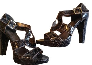 Coach Snakeskin Sandal High Heel Brown Sandals