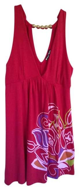 Planet Gold short dress Red on Tradesy