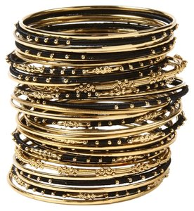 Amrita Singh AMRITA SINGH New Marakesh Bangle Set Black Gold Choose M or L Free Ship