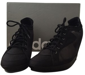 adidas Black Wedges