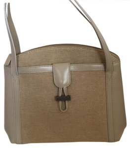 Bally Satchel in Beige Fabric And Leather
