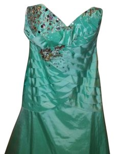 Tony Bowls Le Gala Mint Prom Crystals Embellished Dress